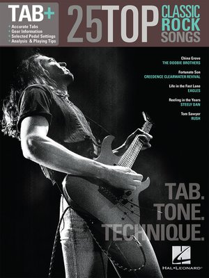 cover image of 25 Top Classic Rock Songs--Tab. Tone. Technique. (Songbook)