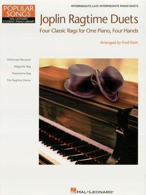 cover image of Joplin Ragtime Duets (Songbook)