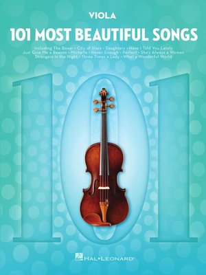 cover image of 101 Most Beautiful Songs for Viola