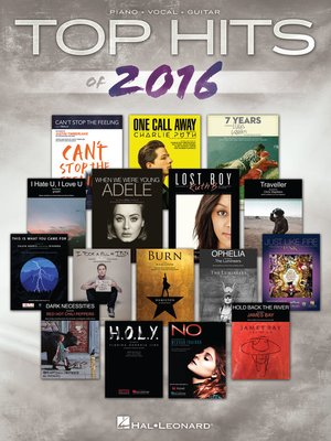 cover image of Top Hits of 2016 Songbook