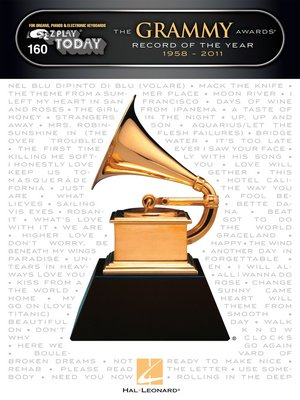 cover image of The Grammy Awards Record of the Year 1958-2011 Songbook