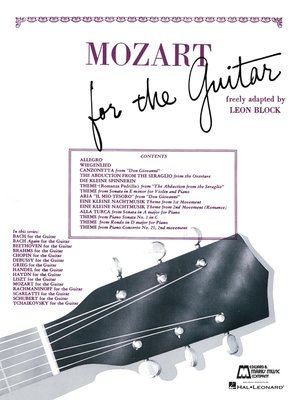 cover image of Mozart for Guitar (Songbook)