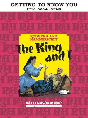 cover image of Getting to Know You (From the King and I) Sheet Music