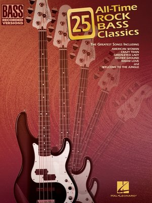 cover image of 25 All-Time Rock Bass Classics (Songbook)
