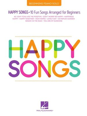 cover image of Happy Songs for Piano
