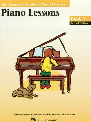 cover image of Piano Lessons Book 3  Edition (Music Instruction)