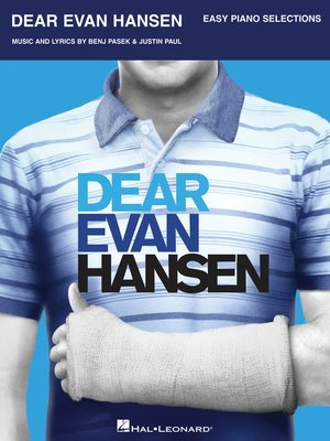 cover image of Dear Evan Hansen Songbook