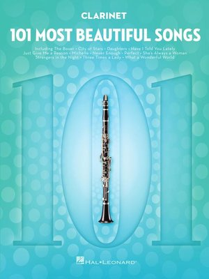 cover image of 101 Most Beautiful Songs for Clarinet