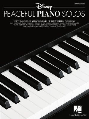 cover image of Disney Peaceful Piano Solos Songbook
