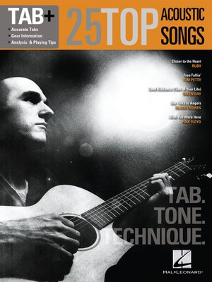 cover image of 25 Top Acoustic Songs--Tab. Tone. Technique.