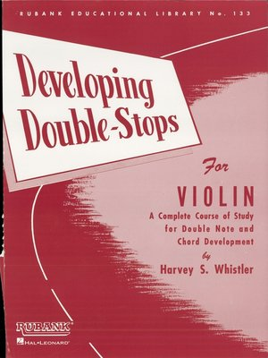 cover image of Developing Double Stops for Violin (Music Instruction)