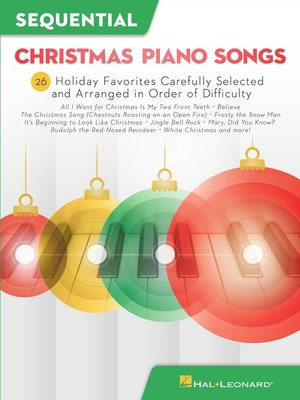 cover image of Sequential Christmas Piano Songs Songbook