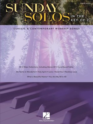 cover image of Sunday Solos in the Key of C Songbook