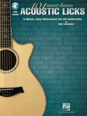 cover image of 101 Must-Know Acoustic Licks