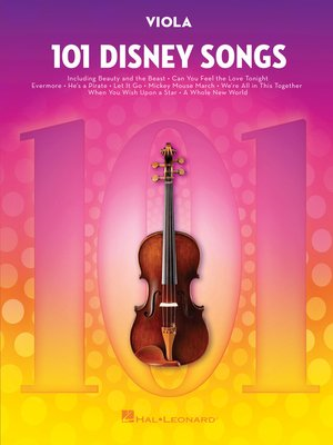 cover image of 101 Disney Songs for Viola