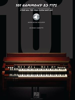 cover image of 101 Hammond B-3 Tips