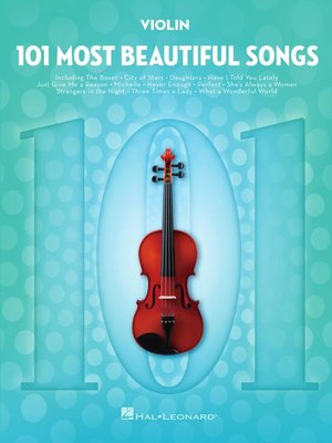 cover image of 101 Most Beautiful Songs for Violin