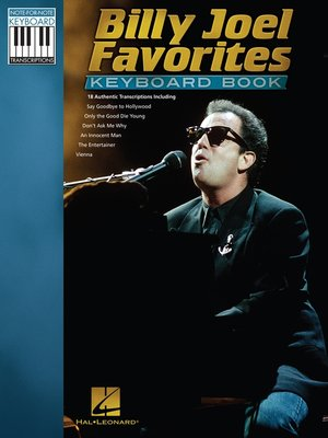 cover image of Billy Joel Favorites Keyboard Book (Songbook)