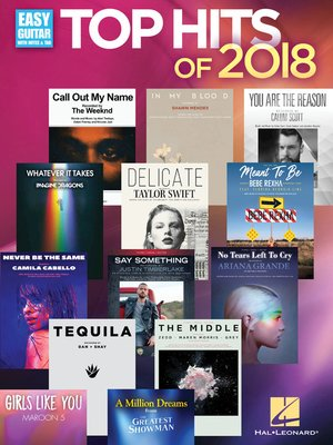 cover image of Top Hits of 2018 Songbook