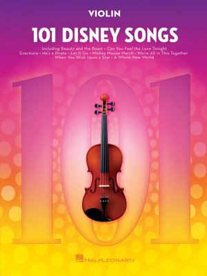 cover image of 101 Disney Songs for Violin