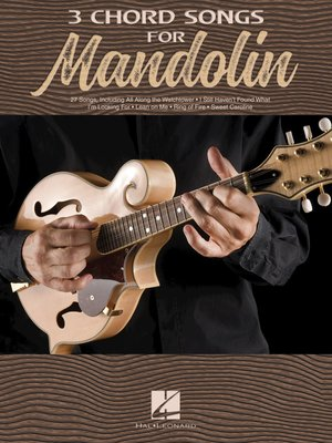 cover image of 3 Chord Songs for Mandolin