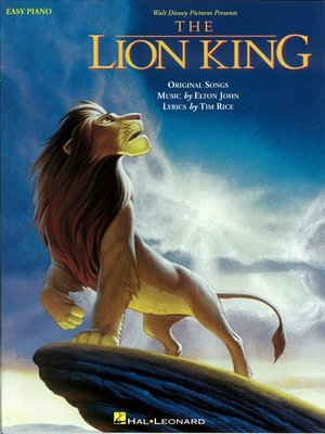 cover image of The Lion King (Songbook)