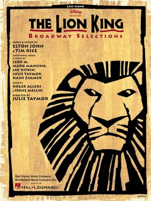cover image of The Lion King--Broadway Selections (Songbook)