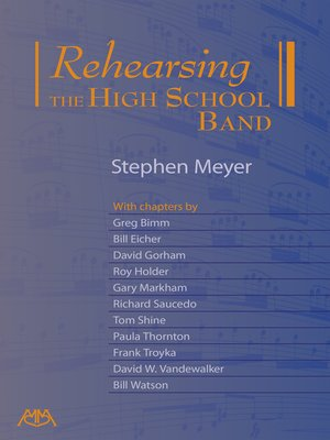 cover image of Rehearsing the High School Band