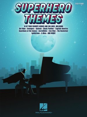cover image of Superhero Themes for Easy Piano