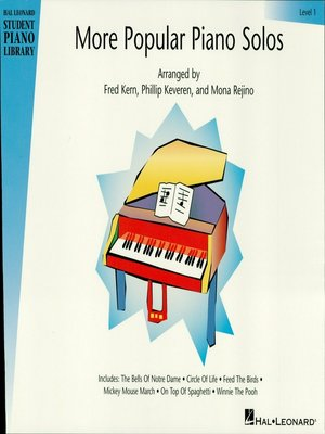 cover image of More Popular Piano Solos--Level 1 (Songbook)