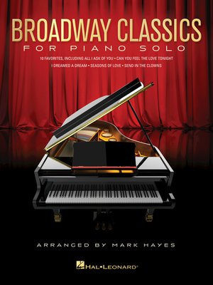 cover image of Broadway Classics for Piano Solo