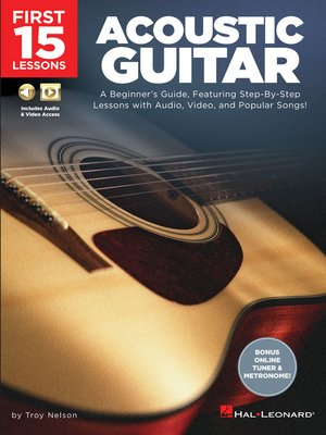 cover image of First 15 Lessons--Acoustic Guitar
