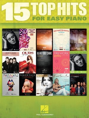 cover image of 15 Top Hits for Easy Piano (Songbook)