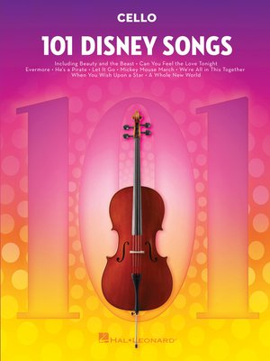 cover image of 101 Disney Songs for Cello