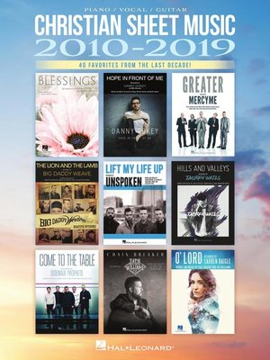 cover image of Christian Sheet Music 2010-2019