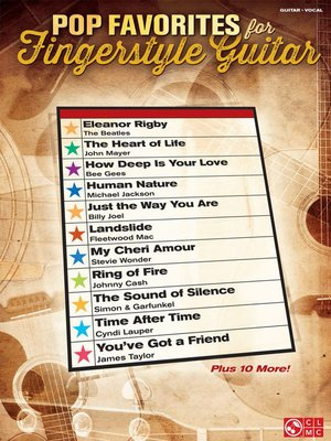cover image of Pop Favorites for Fingerstyle Guitar
