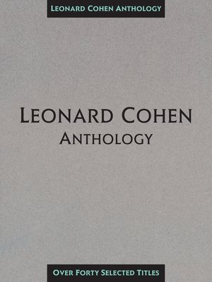 cover image of Leonard Cohen Anthology (Songbook)