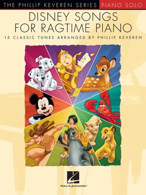 cover image of Disney Songs for Ragtime Piano