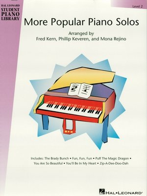 cover image of More Popular Piano Solos--Level 2 (Songbook)