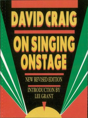 cover image of On Singing Onstage