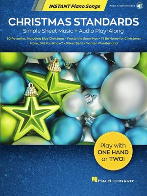 cover image of Christmas Standards--Instant Piano Songs
