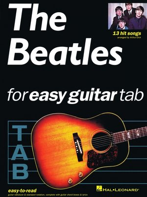 cover image of The Beatles for Easy Guitar Tab (Songbook)
