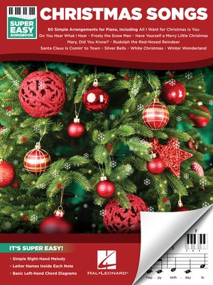 cover image of Christmas Songs--Super Easy Songbook