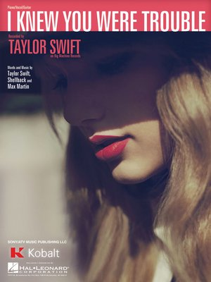 cover image of I Knew You Were Trouble Sheet Music