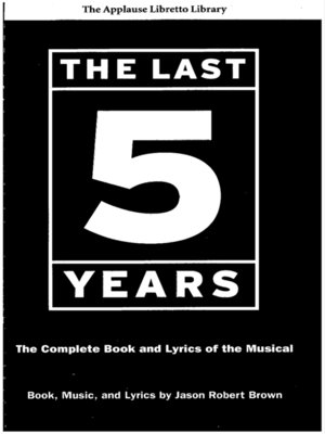 cover image of The Last Five Years (The Applause Libretto Library)
