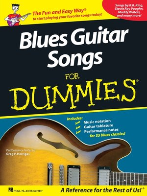 cover image of Blues Guitar Songs for Dummies (Music Instruction)