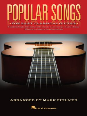 cover image of Popular Songs for Easy Classical Guitar