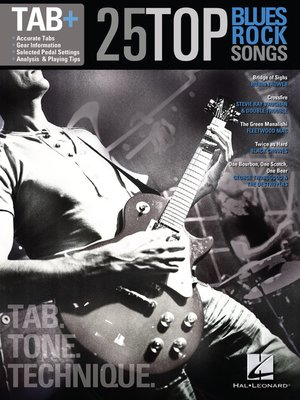 cover image of 25 Top Blues/Rock Songs--Tab. Tone. Technique.