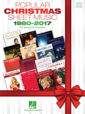 cover image of Popular Christmas Sheet Music--1980-2017