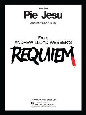 cover image of Pie Jesu--Piano Solo